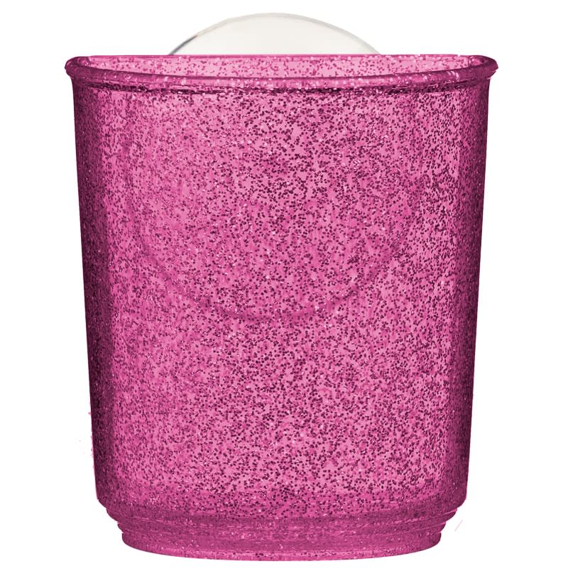 Glitter Bathroom Suction Tumbler - Pink