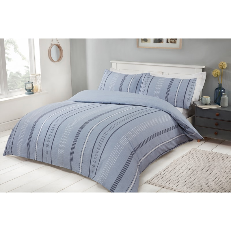 Marl Stripe King Duvet Set