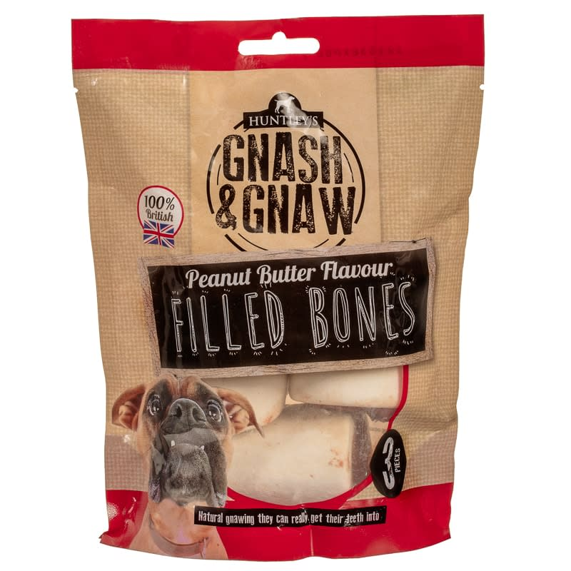 Gnash & Gnaw Peanut Butter Flavour Filled Bones 3pk