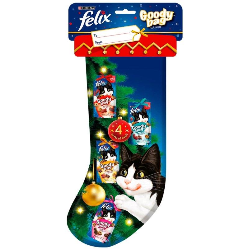 Cat Christmas Stockings.Felix Christmas Stocking 4pk