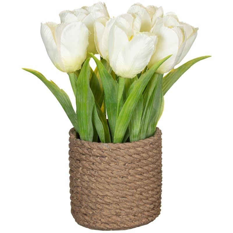 343149-tulip-floral-pot  sc 1 st  B\u0026M & Artificial Tulip Pot   Home   Artificial Flowers - B\u0026M