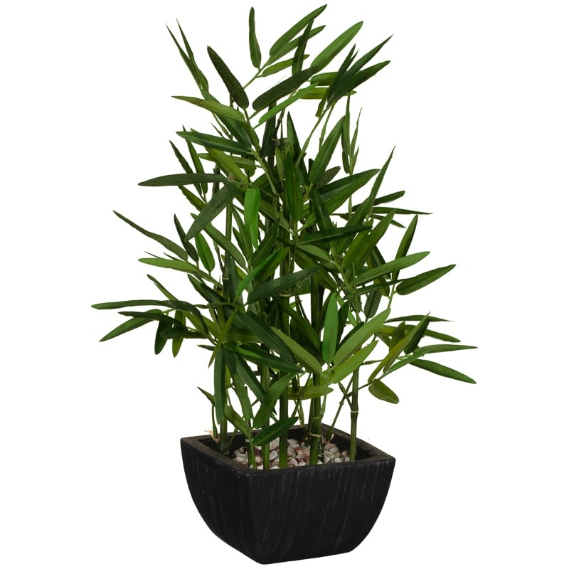 Artificial Bamboo Plant in Black Pot
