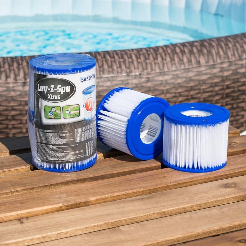 Lay Z Spa Hot Tub Filter Cartridges 2pk Hot Tub Filters B M