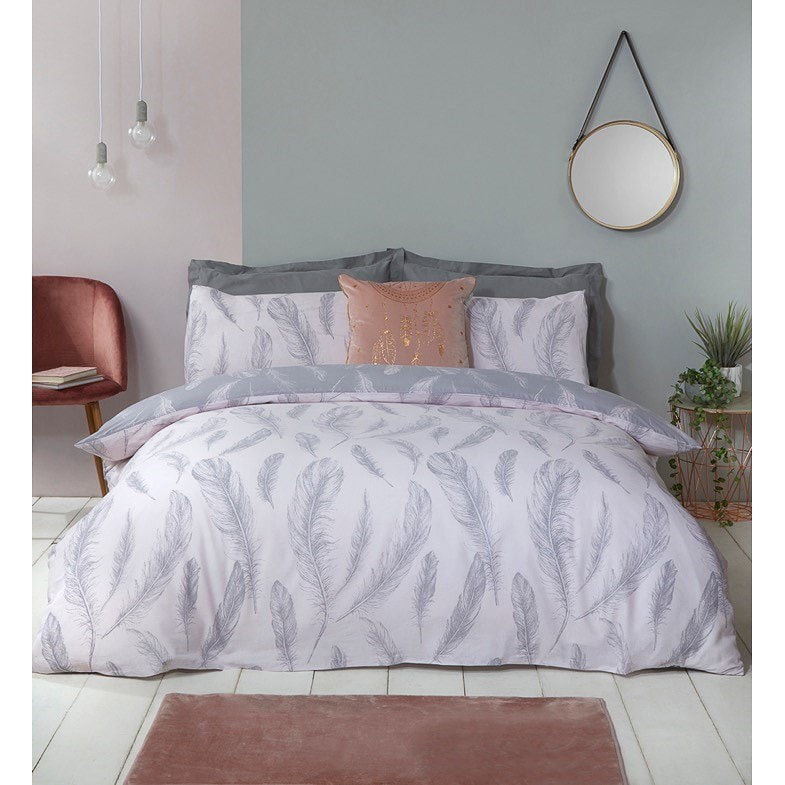 Feather Print King Duvet Set