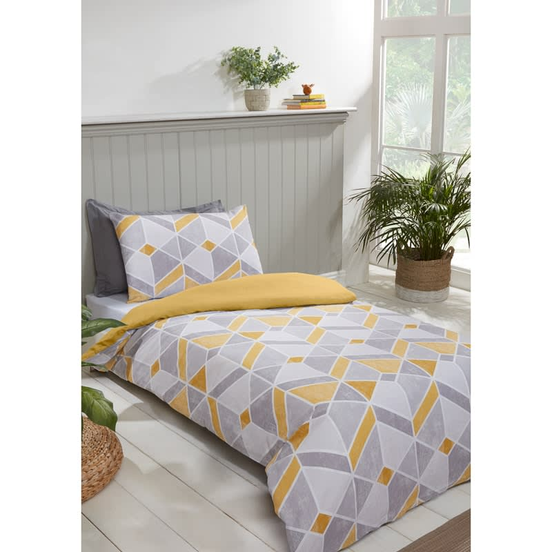 Geo Single Duvet Twin Pack - Ochre