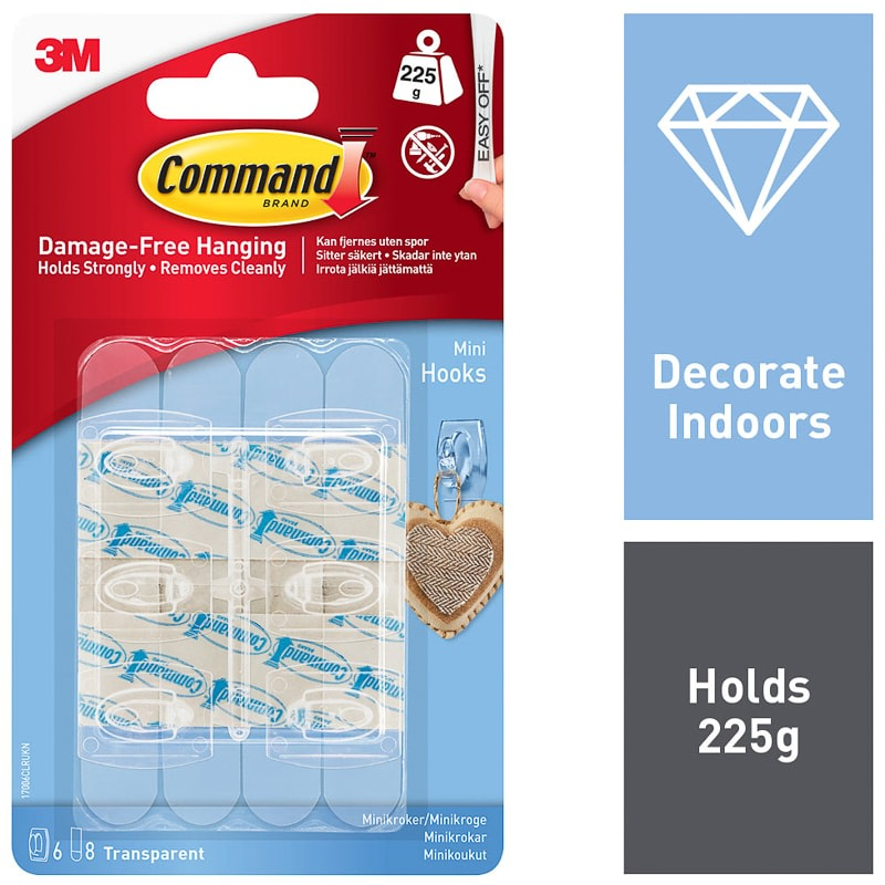 Command Mini Hooks 6pk