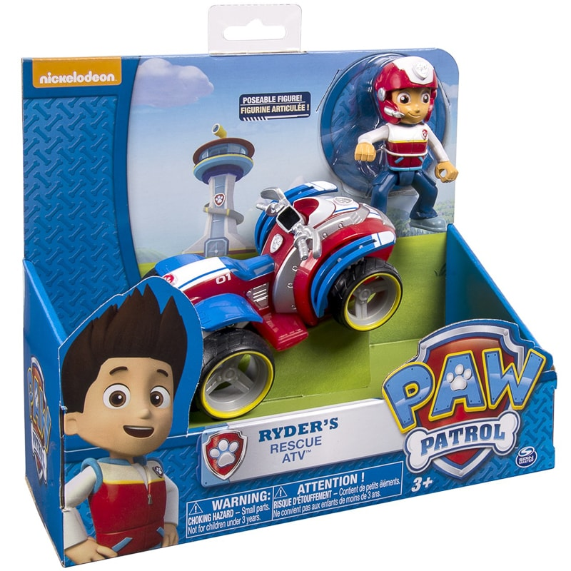 PAW Patrol Ryder/'s Rescue ATV Pup /& Vehicle