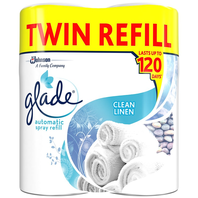 Glade Automatic Spray Refill 2pk - Clean Linen