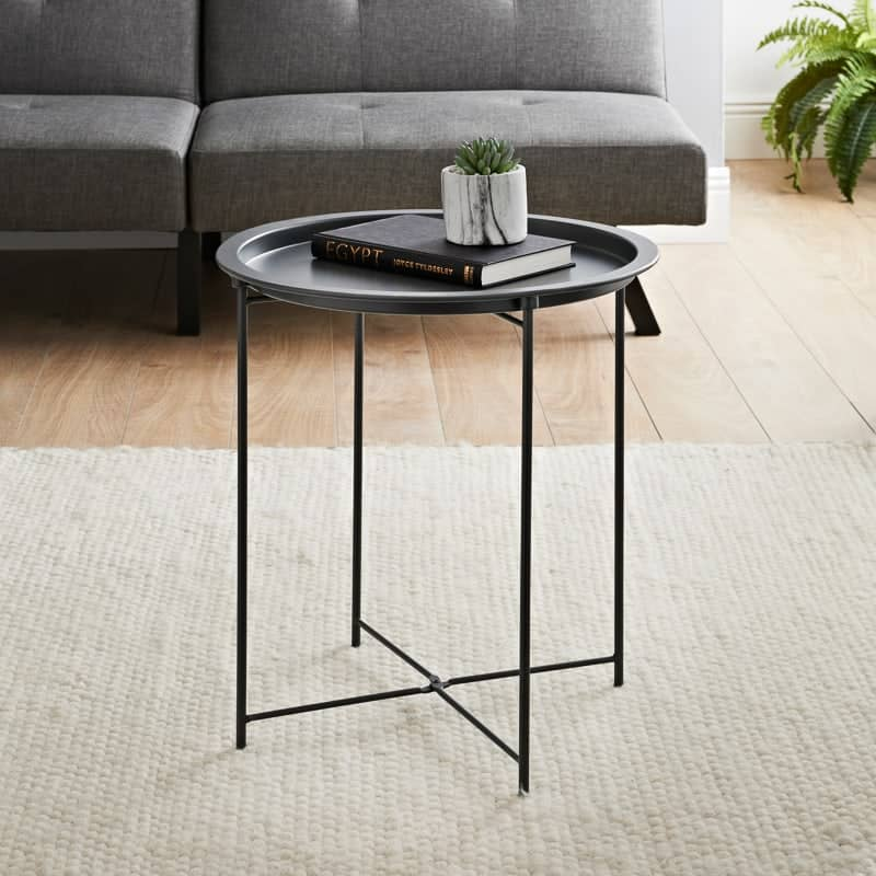 Tromso Tray Side Table - Grey