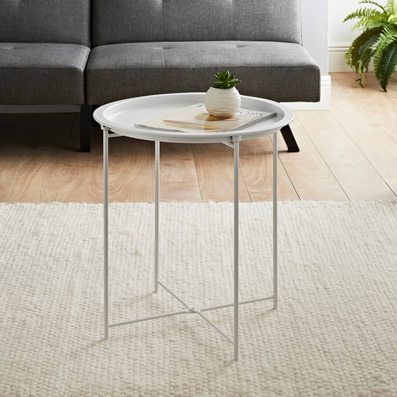 Tromso Tray Side Table - White