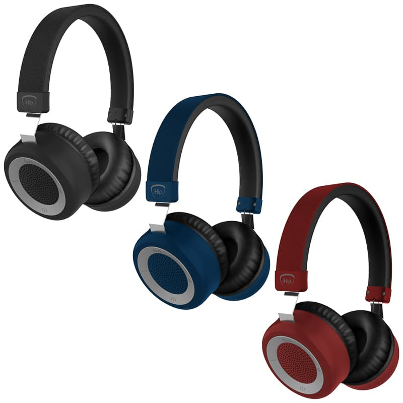 iHip Proton Bluetooth Headphones - Red