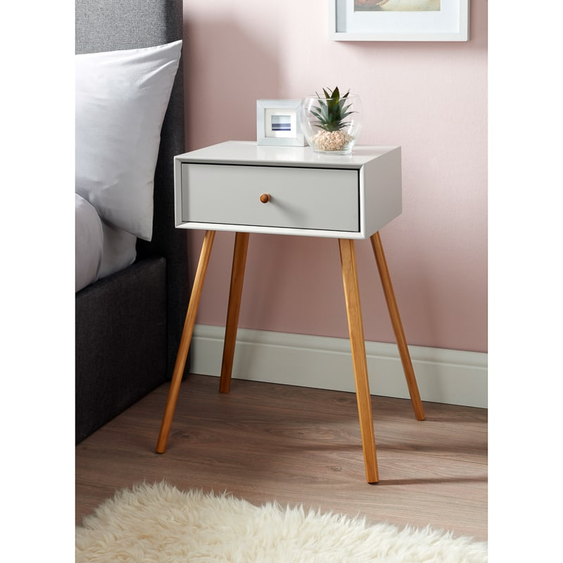 Bjorn Bedside Table Stone Bedroom Furniture B Amp M