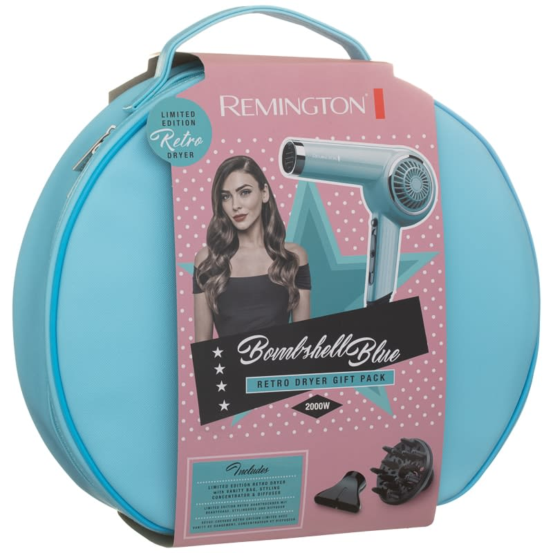 Remington Bombshell Blue Retro Hair Dryer Set  37b3628adb114