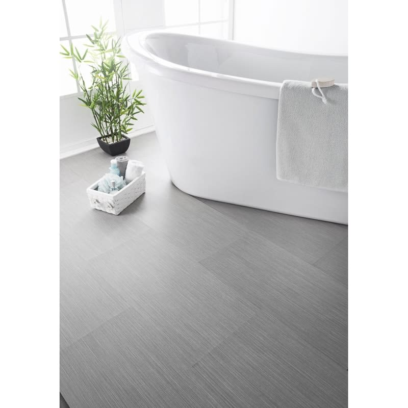 Grey Stripe Effect Vinyl Tiles 60 x 30cm 6pk