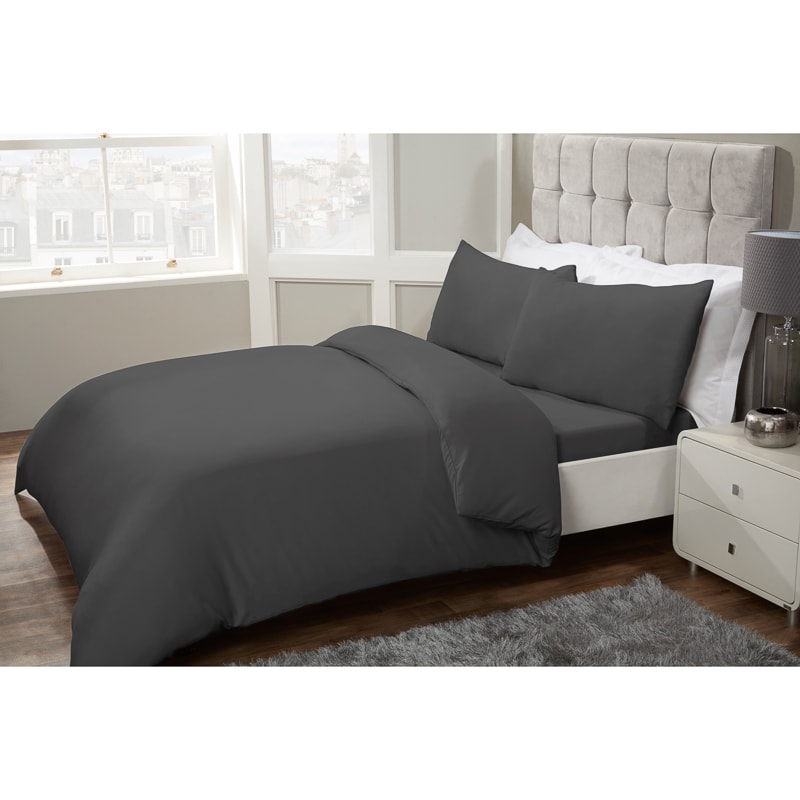 Silentnight Complete King Bedding Set - Charcoal