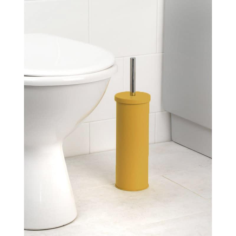 Skandi Toilet Brush Holder Ochre Home Bathroom B M