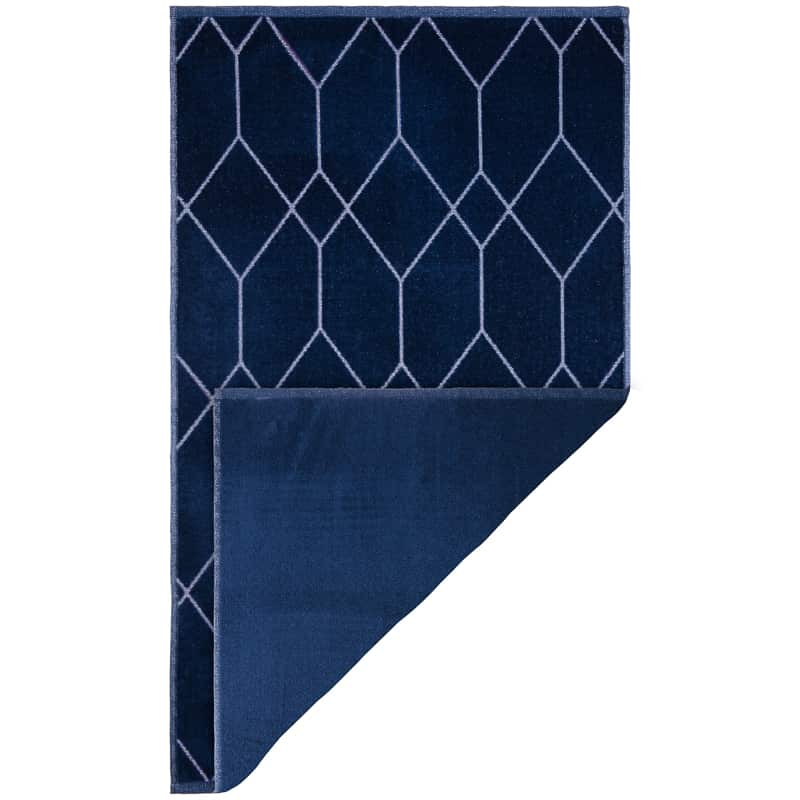 Midnight Collection Geometric Hand Towel - Blue