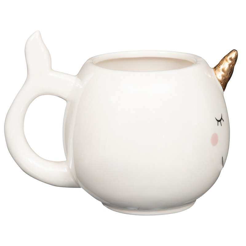 Pearlised Animal Mug - Narwhal