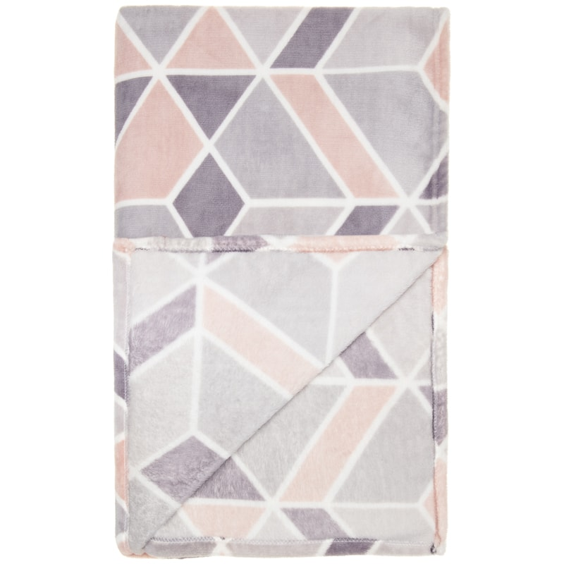 Supersoft Geo Throw - Blush