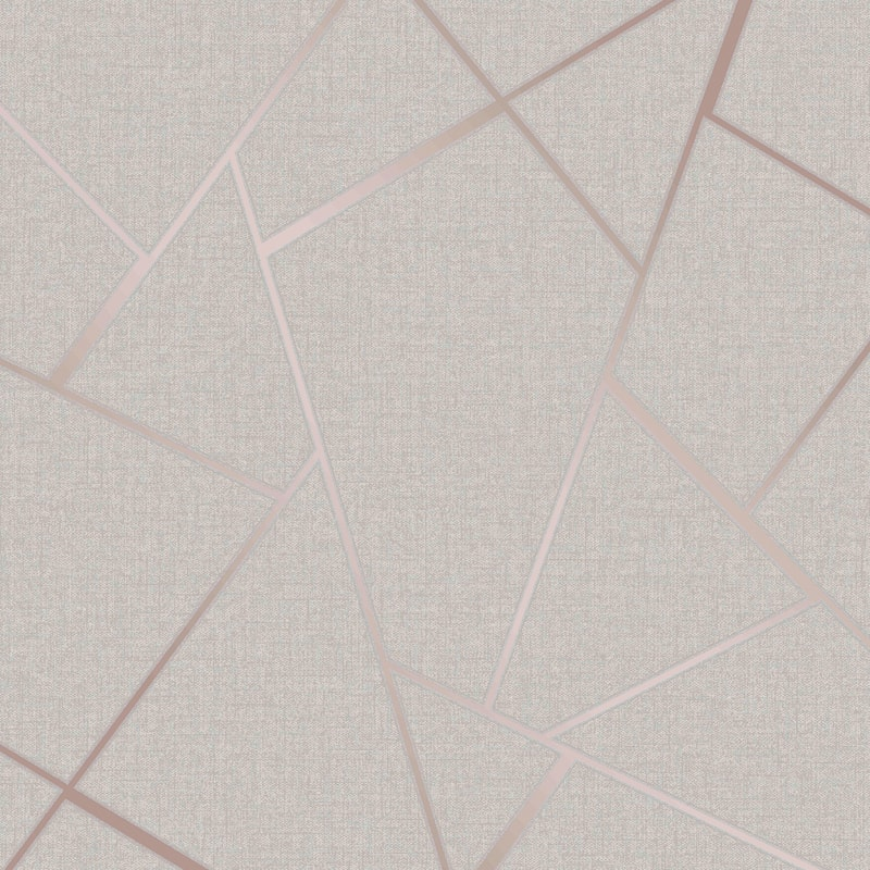 Quartz Fractal Wallpaper - Rose Gold