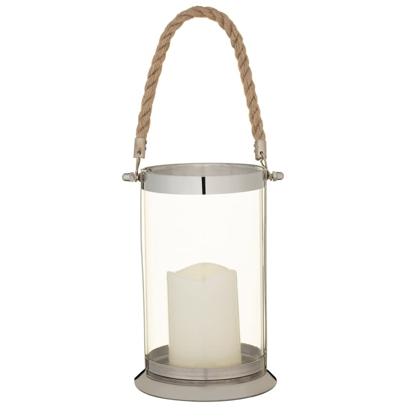 Glass Lantern with Rope Handle - Small