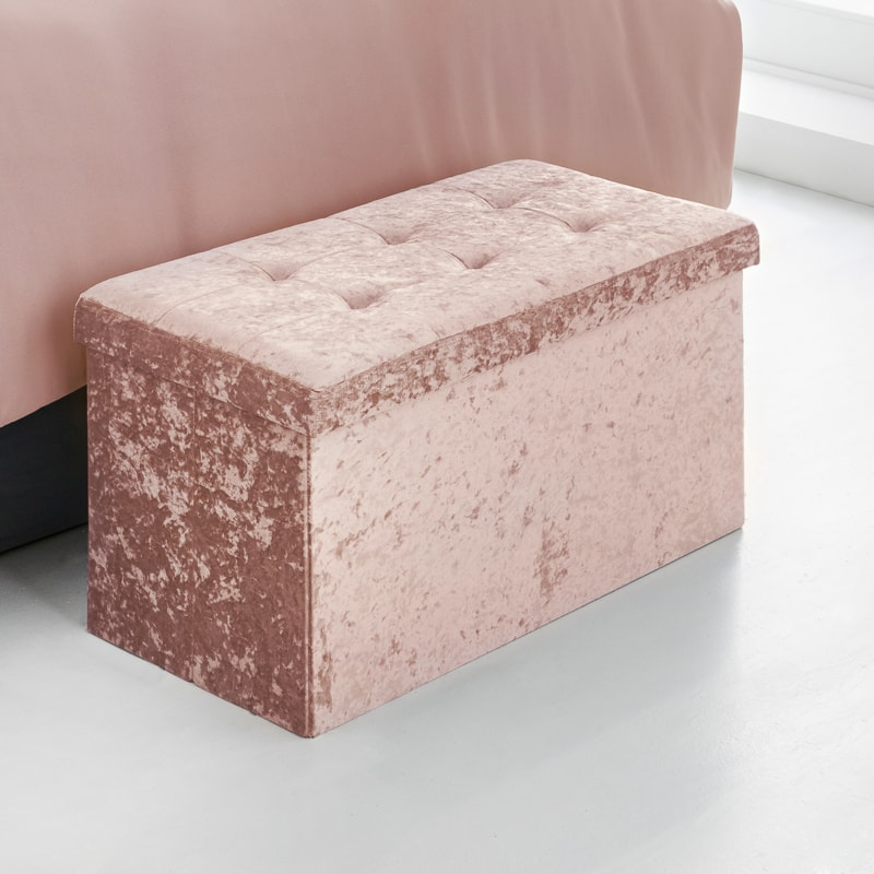 Marvelous Storage Ottoman Blush Machost Co Dining Chair Design Ideas Machostcouk