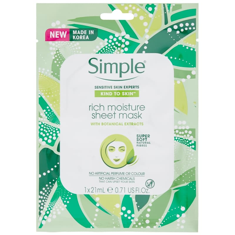 Simple Rich Moisture Sheet Mask 21ml