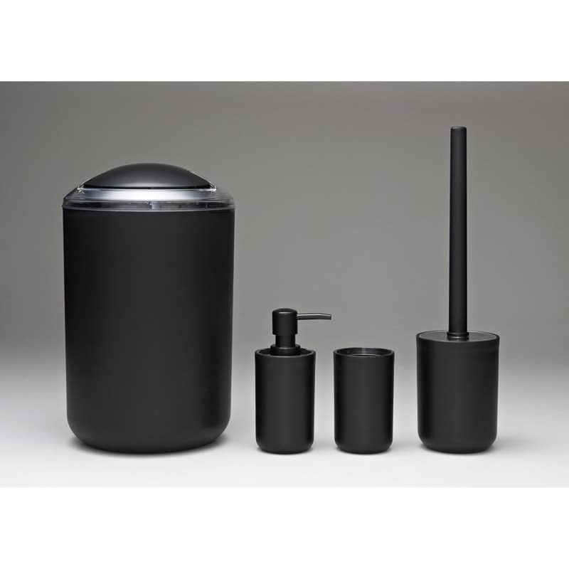Bathroom Accessories Set 4pc Black Bathroom B M