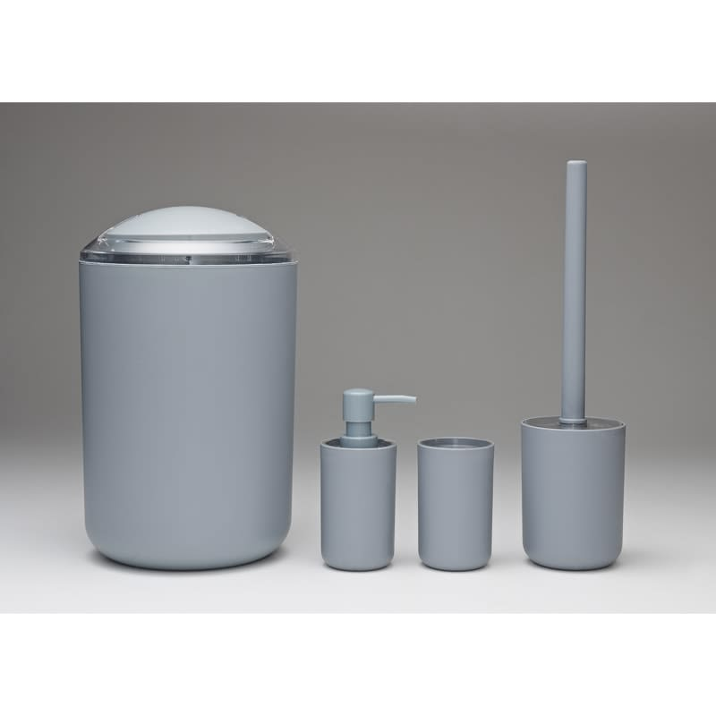 Bathroom Accessories Set 4pc - Grey