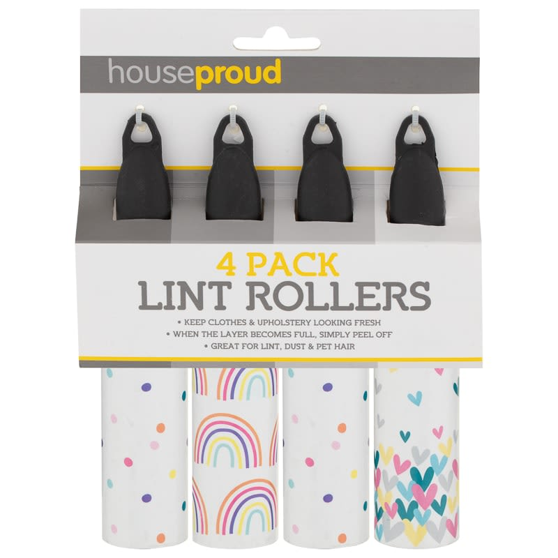Lint Rollers 4pk - Rainbow