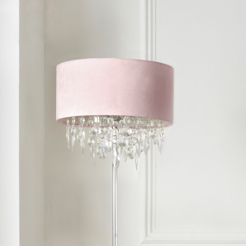Hanging Jewel Floor Lamp Blush