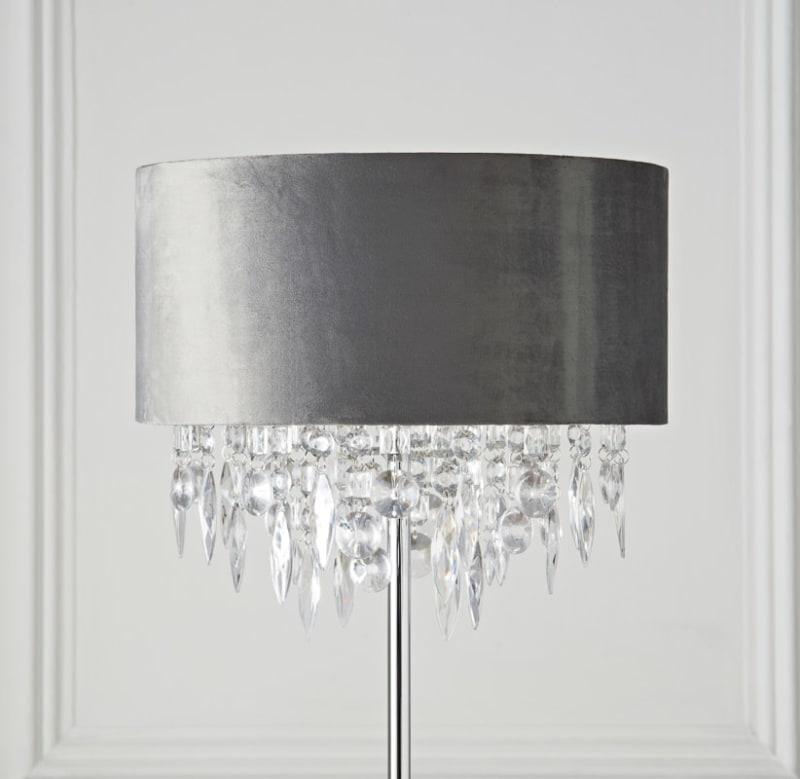 Hanging Jewel Floor Lamp Silver Home Lighting B Amp M