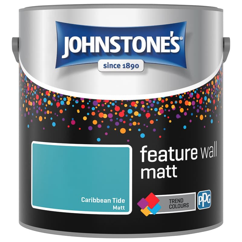 Johnstone's Feature Wall Matt Paint 2.5L - Caribbean Tide