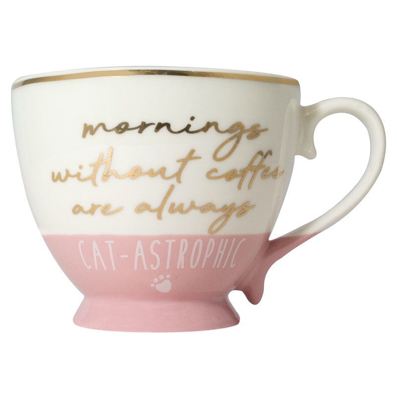 Cat Slogan Mug - Cat-Astrophic