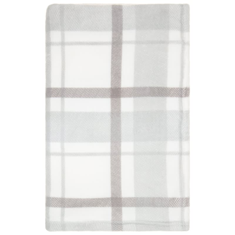 Supersoft Check Throw - Grey