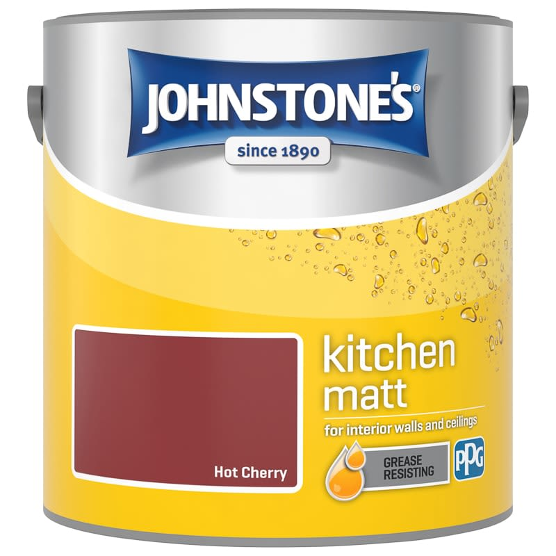 Johnstone's Paint Kitchen Matt - Hot Cherry 2.5L