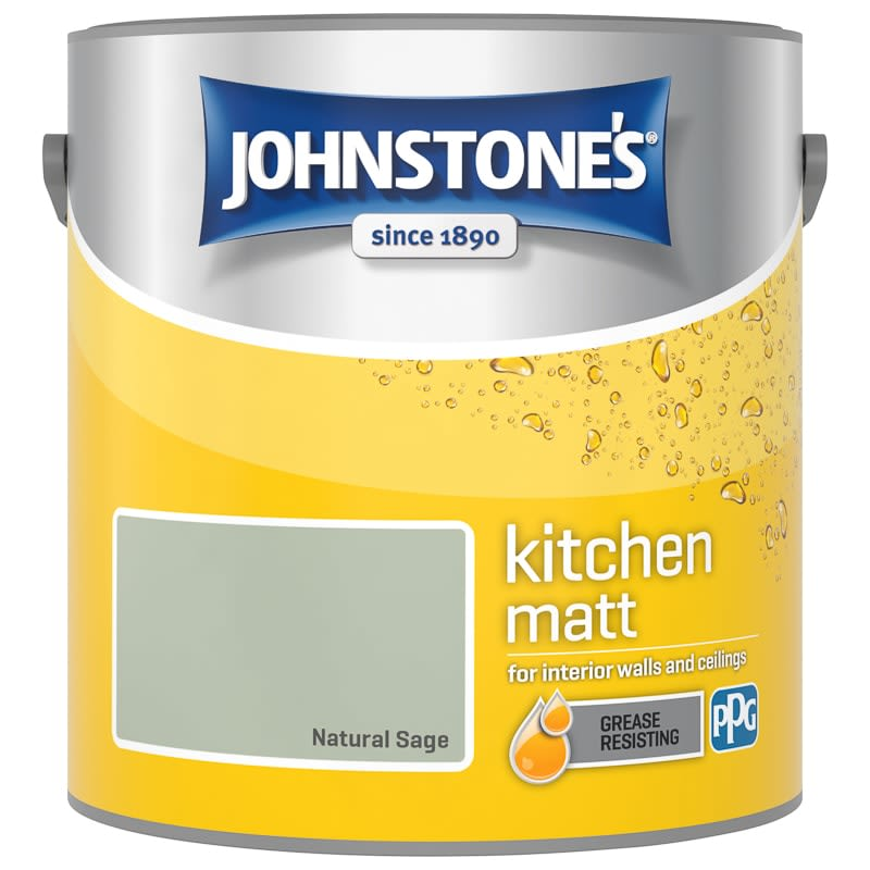 Johnstone's Paint Kitchen Matt - Natural Sage 2.5L