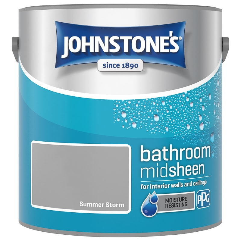 Johnstone's Paint Bathroom Midsheen - Summer Storm 2.5L