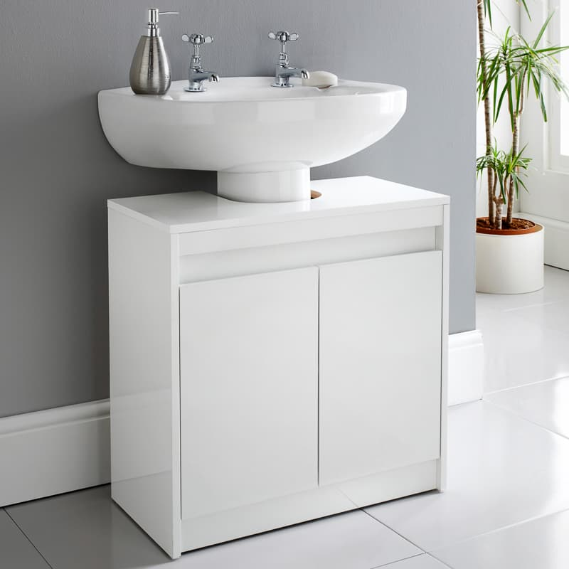 Marvelous Norsk High Gloss Under Sink Cabinet Download Free Architecture Designs Embacsunscenecom