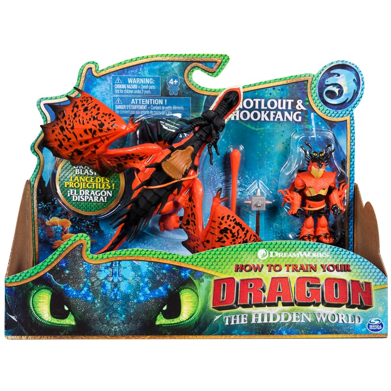 How to Train Your Dragon Action Figures - Snotlout & Hookfang