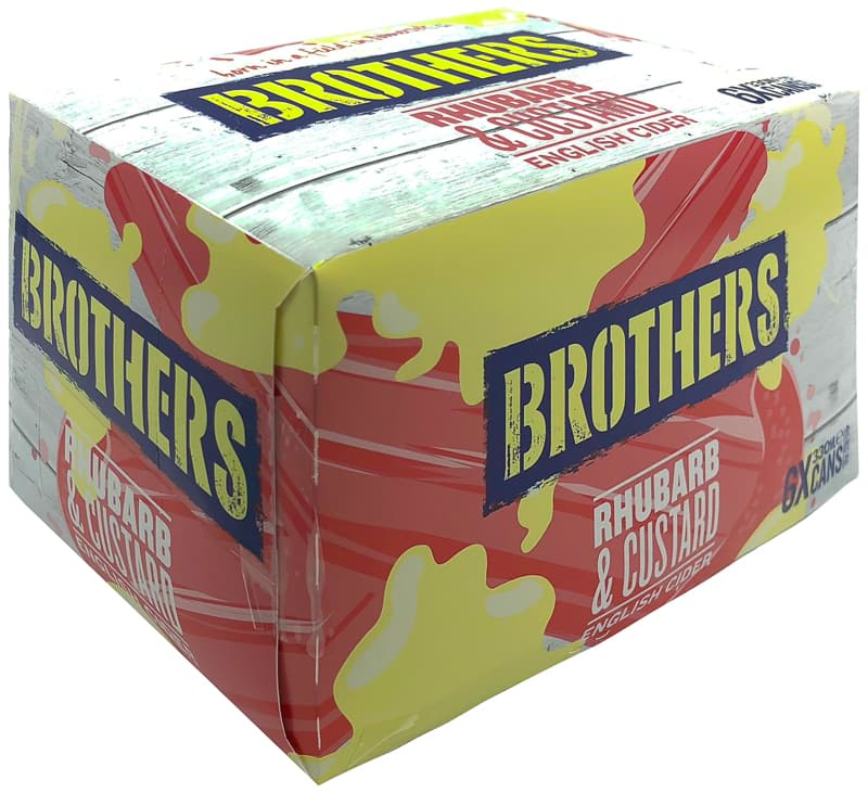 Brothers Rhubarb & Custard English Cider 6 x 330ml
