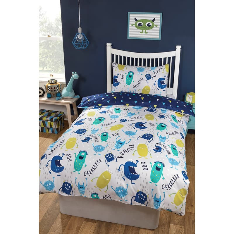 Boys Single Duvet Set Monsters Bedding B Amp M
