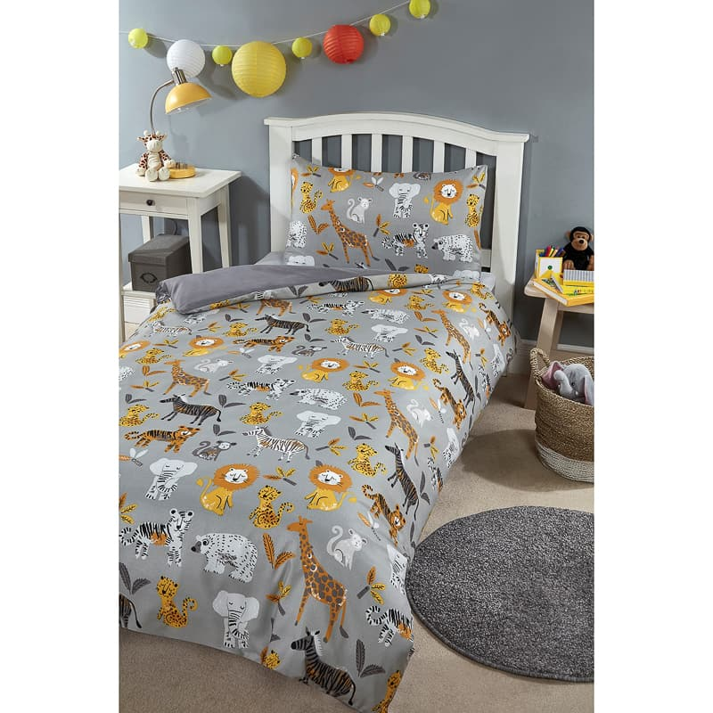 Boys Single Duvet bedding Set - Safari
