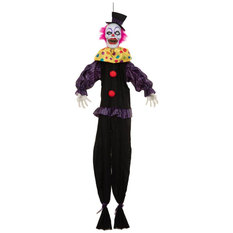 Animated Light Up Scary Clown Purple Halloween B Amp M