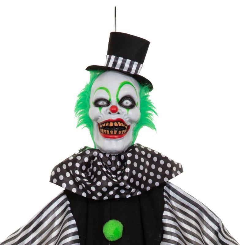 Animated Light Up Scary Clown White Halloween B Amp M