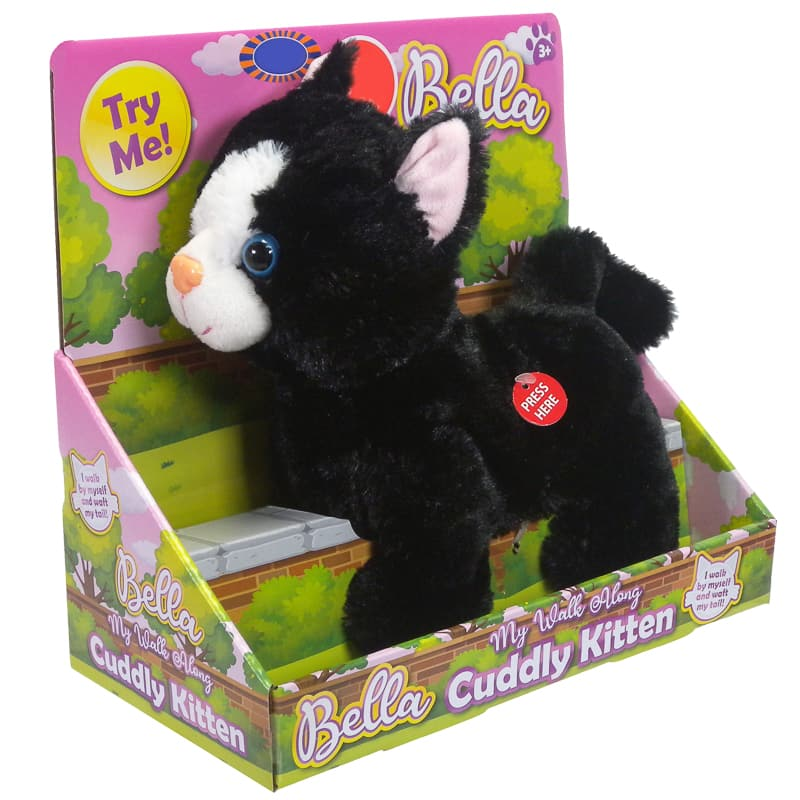 Walk Along Cuddly Kitten - Black
