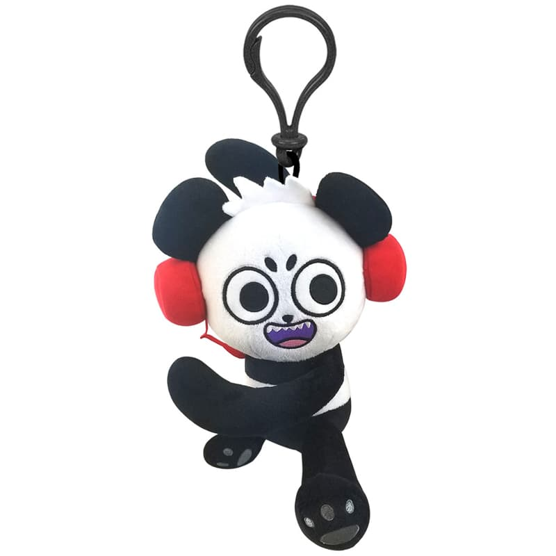 Ryan's World Clip on Plush Toy - Combo Panda