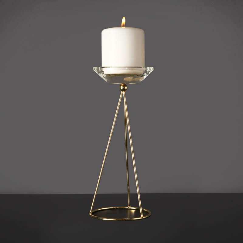Gold Wire Candle Stick Holder
