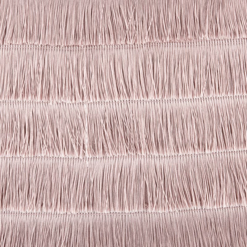 Harper Fringe Cushion - Blush