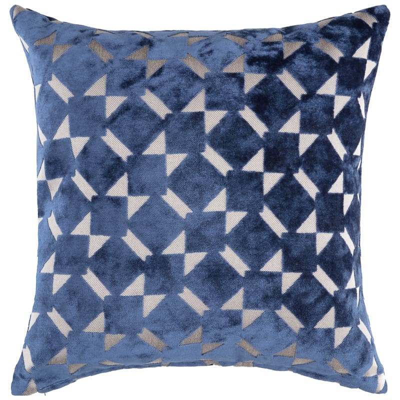 Radcliffe Double Sided Velvet Cushion - Navy